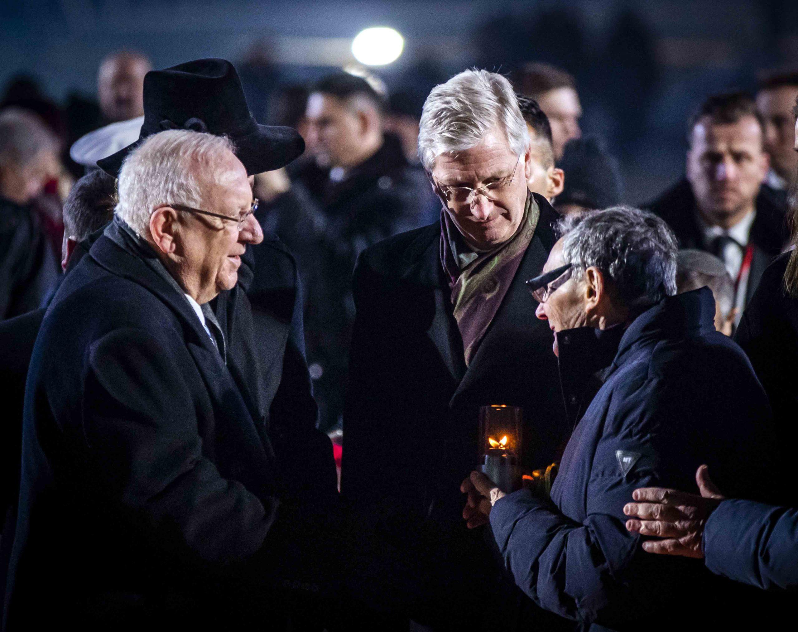Koning-Filip-van-Belgie-in-Auschwitz-herdenking-Polen