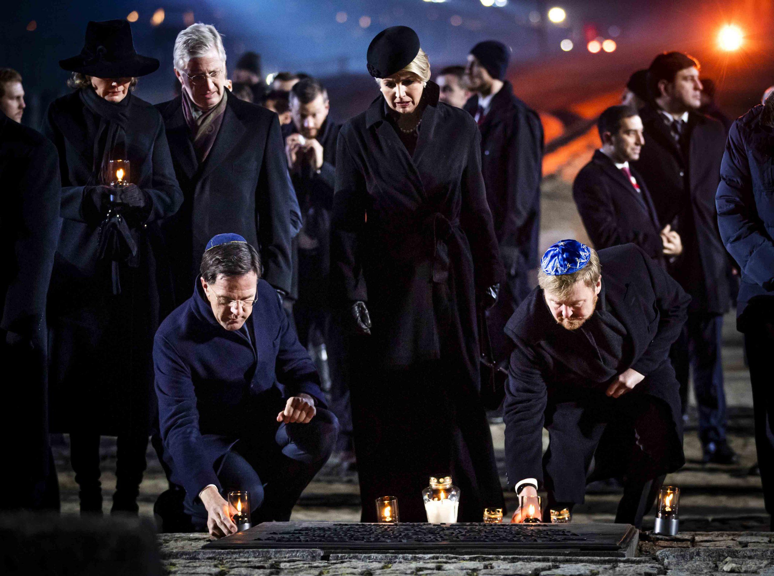 koning-willem-alexander-premier-rutte-koningin-maxima-in-auschwitz-75-jaar-vrijheid-herdenking-polen