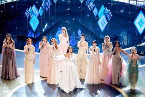 Willemijn en andere Elsa's tijdens Oscars