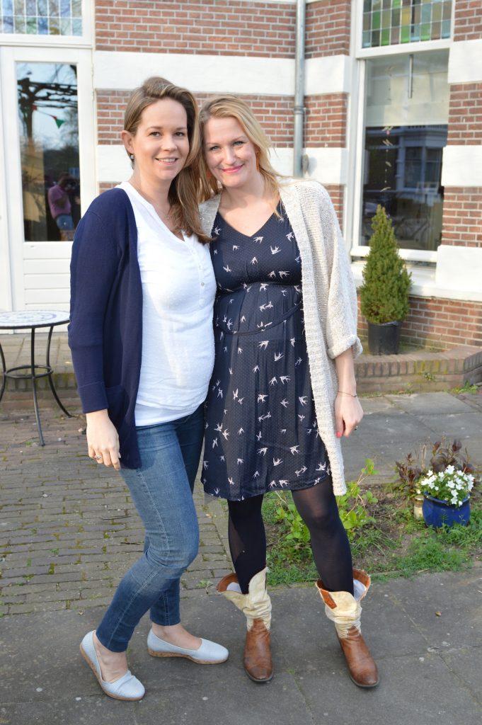 Beste vriendinnen Eva en Miriam tijdens de zwangerschap