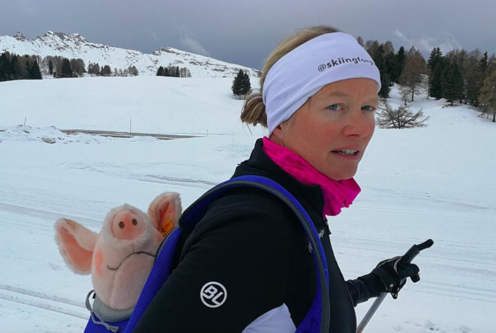 Esther Kef (40) langlauft als eerste ter wereld Italiaanse Alpen