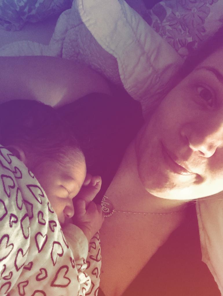 Diedeke en Ryff na de bevalling