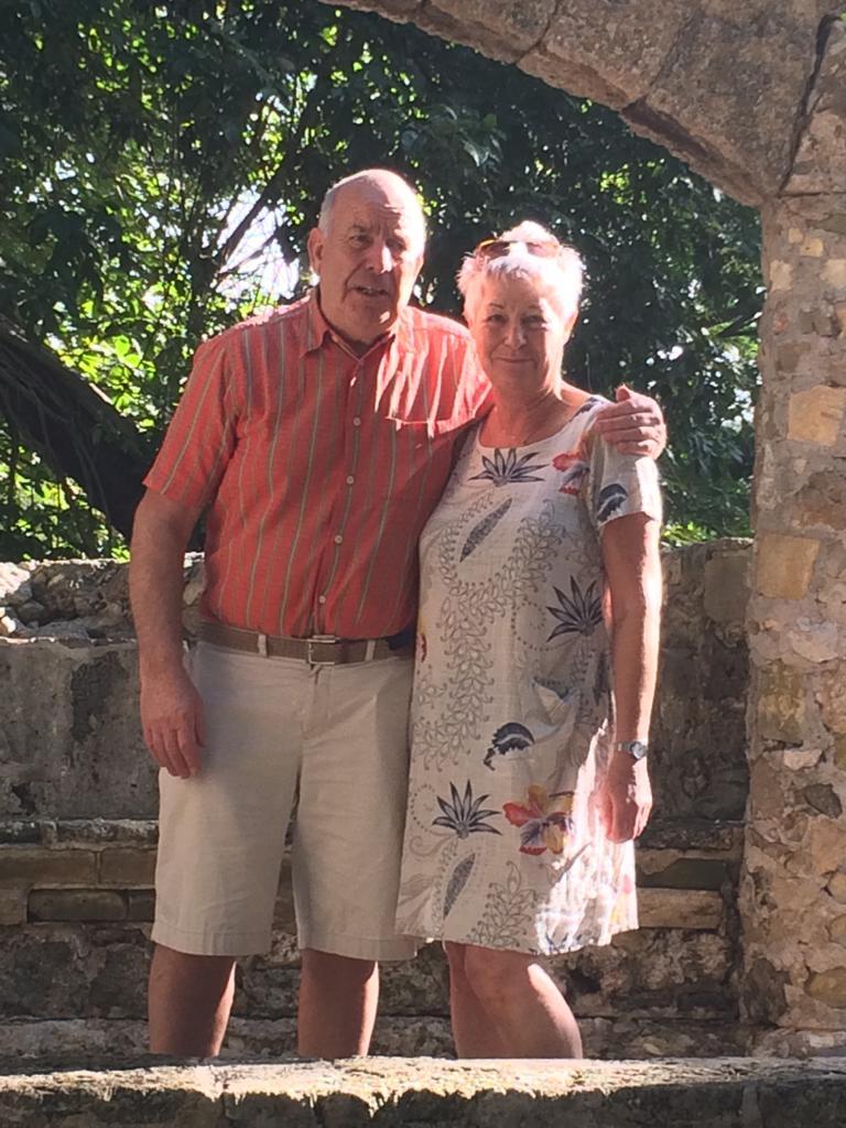 Ria en haar man in januari 2019 in Cuba - Ria had nog maar kort te leven, maar leeft nog steeds