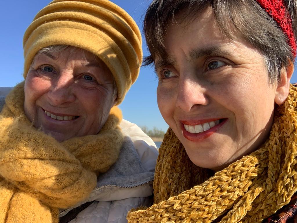 Ria en haar dochter maart 2020 - Ria had nog maar kort te leven, maar leeft nog steeds