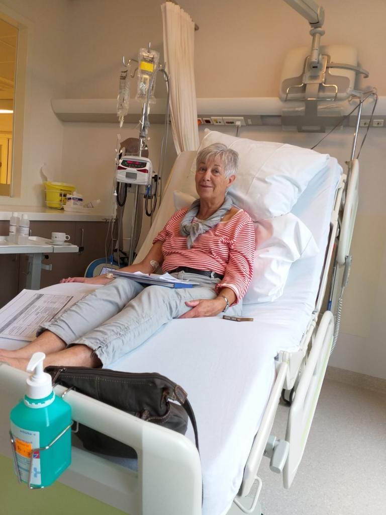Ria tijdens chemobehandeling tegen alvleesklierkanker