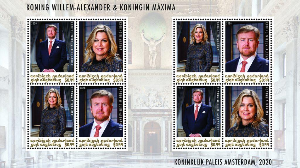 Koning Willem-Alexander voorlopig zonder baard op postzegels in Nederland