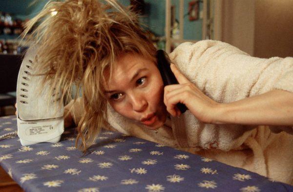 Bridget Jones haren op strijkplank