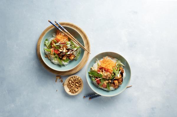 Vietnamese noodlesalade