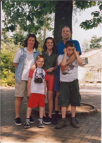 Het laatste gezinsuitje voor de brand