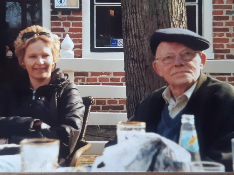 Sabina en haar vader in maart 2007