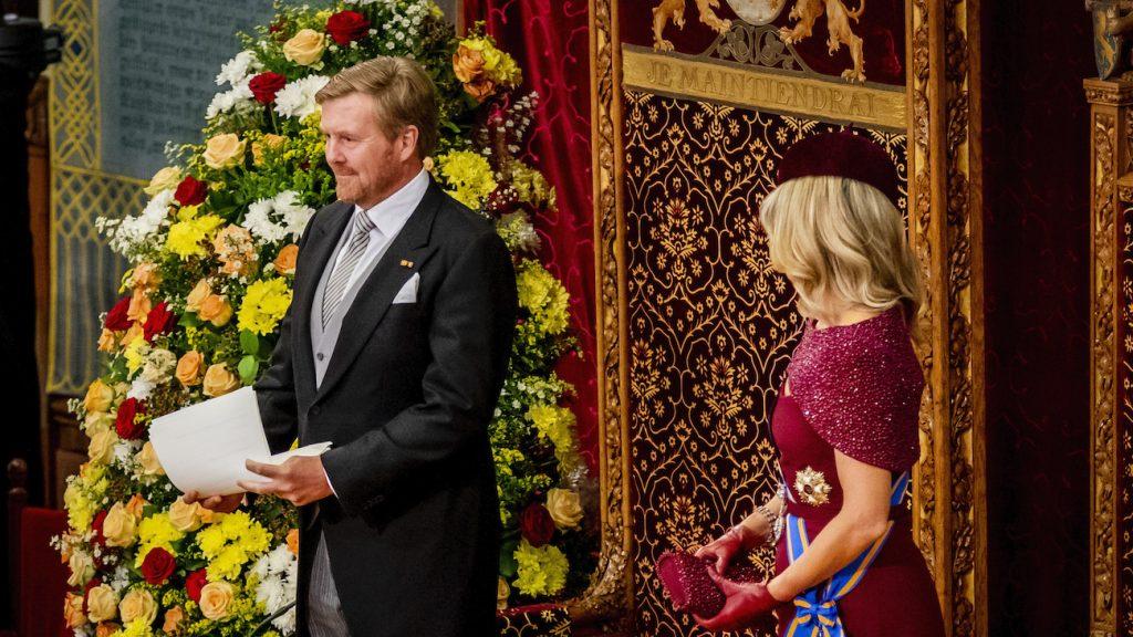 Koning houdt troonrede in Grote Kerk in Den Haag