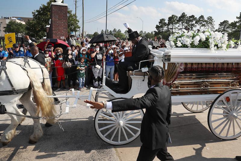 Stoet begrafenis George Floyd