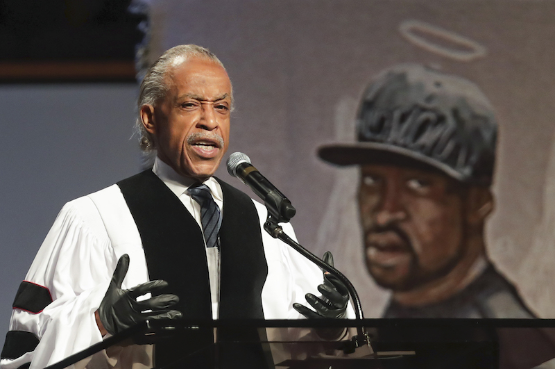 Al Sharpton tijdens begrafenis George Floyd