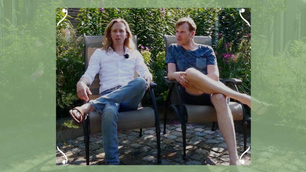 Patrick en Hendrik maakten van hun tuin een bloemenzee