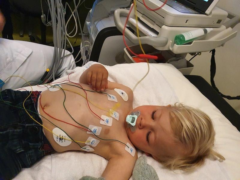 Rijk bij controle van zijn hart na openhartoperatie