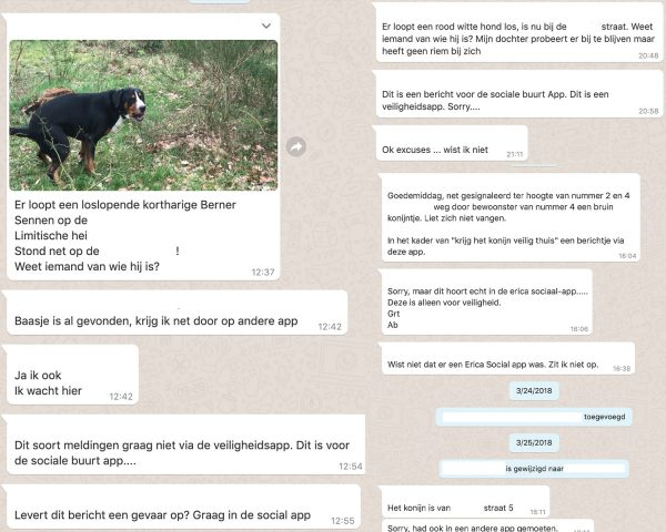 Buurts-whatsappgroepen screenshot