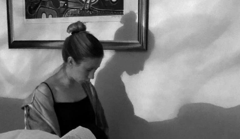 Denise tijdens haar hypnobirthing bevalling