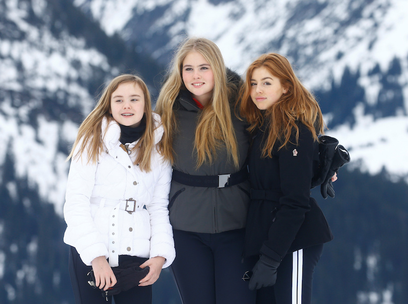 Ariaan, Amalia en Alexia in Lech 2020