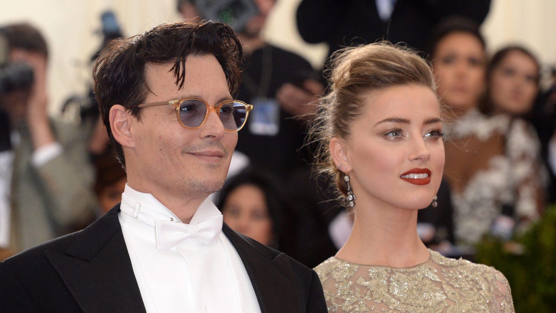 Johnny Depp en Amber Heard kopstoot
