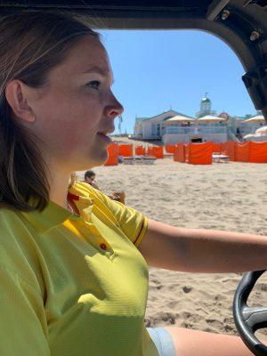 Lifeguard Dionne Stokman (22)