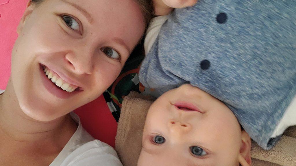 Evelien (33) viel na haar bevalling 'eindelijk' af, maar dat doet haar niets