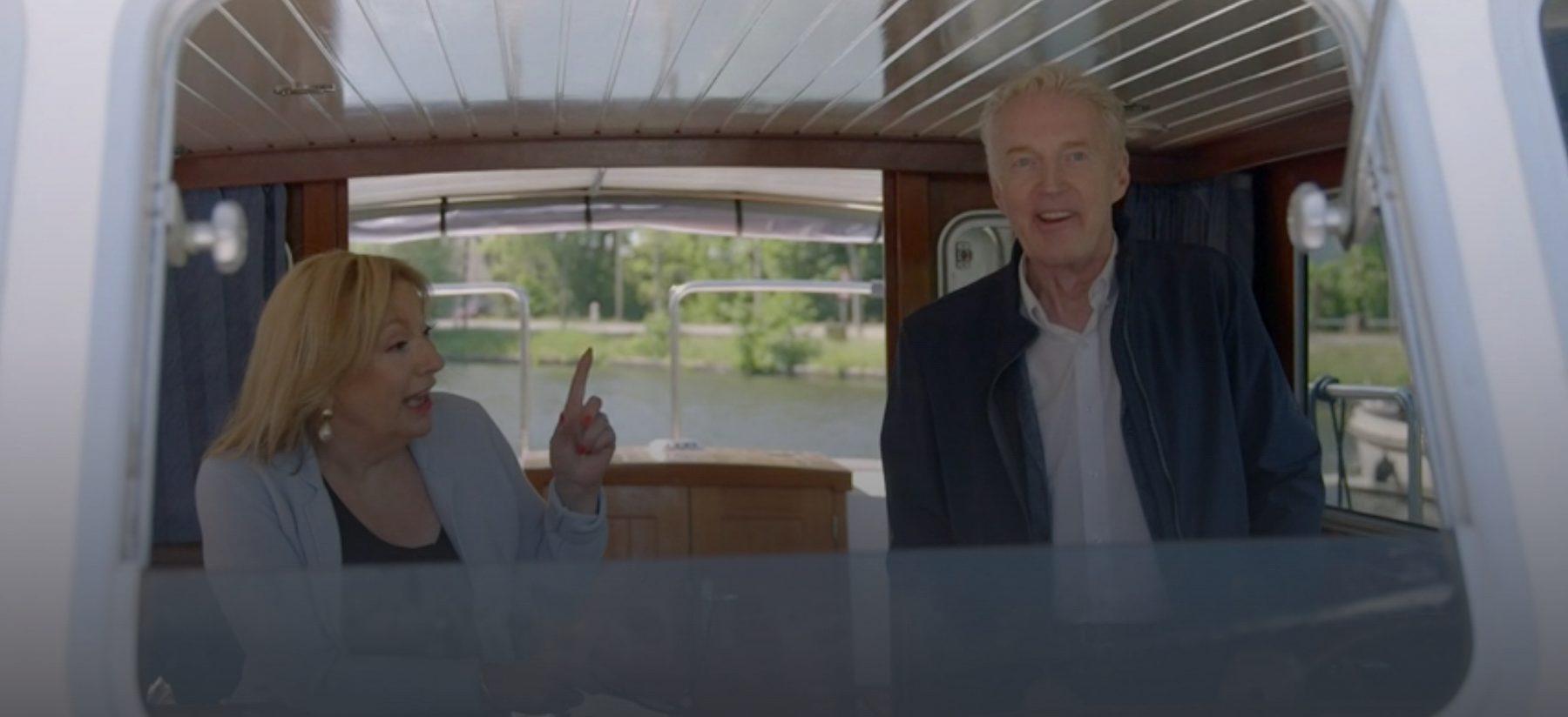 janny van der Heijden Andre van duin denkend aan Holland boottocht Nederland