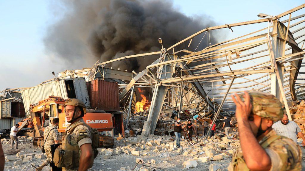 Beiroet opgeschrikt door vernietigende explosie