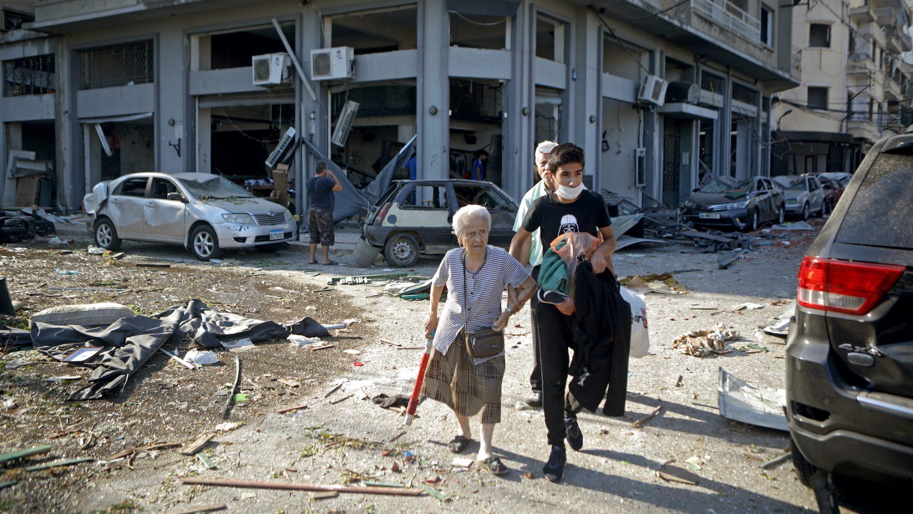 libanon petra stienen bom explosie.