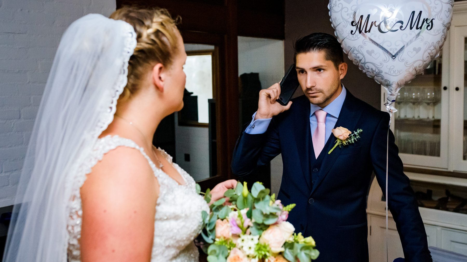 Een inbraak verpestte Michels bruiloft: 'Vol stress de trouwauto in'