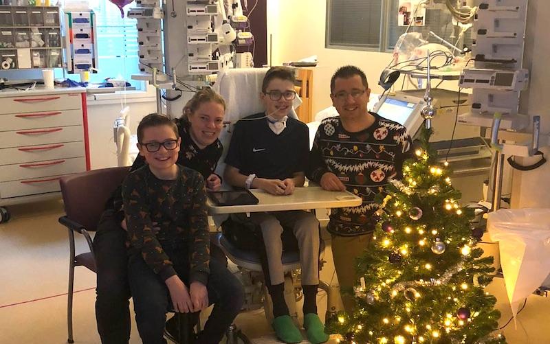 Patricia Julian gezin in ziekenhuis