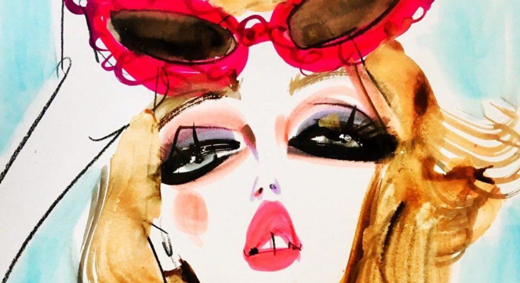 Astrid Vos is catwalktekenaar: 'Ik teken modellen backstage, on the spot'