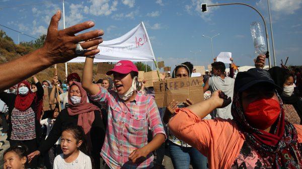 Griekenland Moria vluchtelingen Lesbos