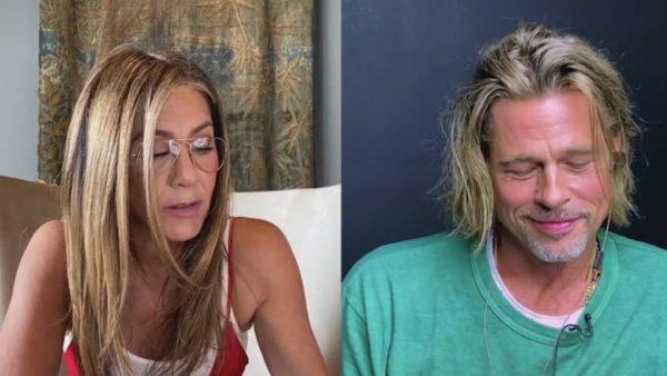 Reünie van ex-geliefden Jennifer Aniston en Brad Pitt zorgt voor veel gegrinnik