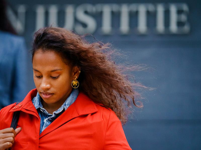 Dilani Butink bij rechtszaak