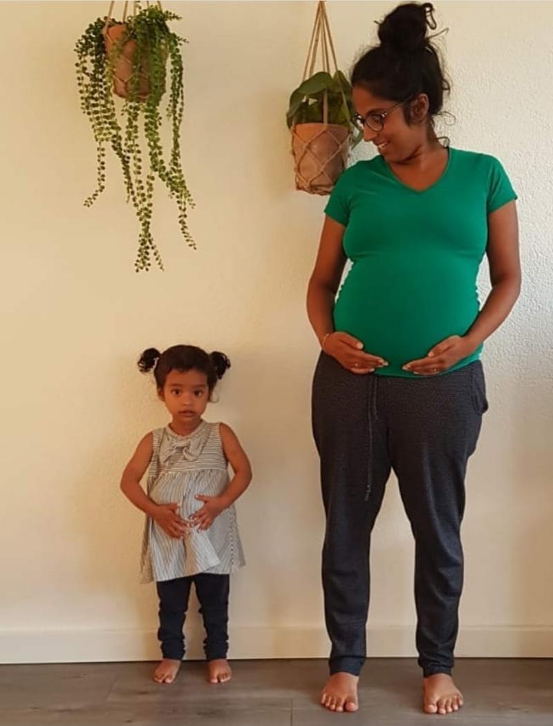 Lianne tijdens haar zwangerschap