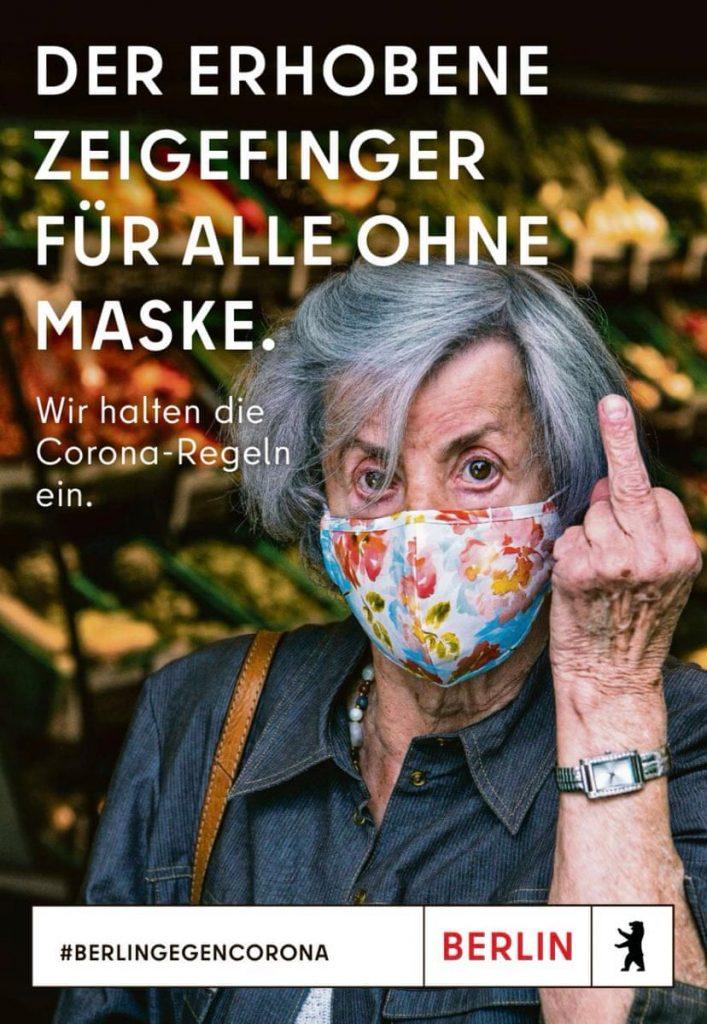 Berlijn steekt middelvinger op naar mensen die geen masker dragen