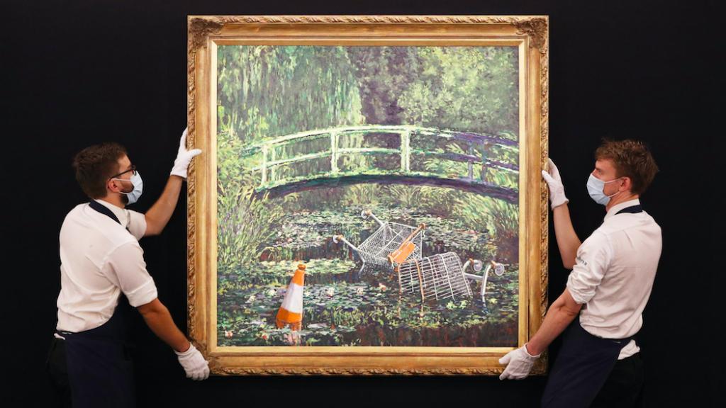 Monet-parodie van Banksy geveild voor 8,5 miljoen euro