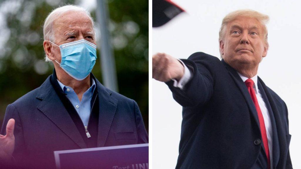 Hoe doen Trump en Biden het in de peilingen
