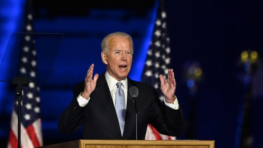 joe biden president vs overwinning speech trump Harris