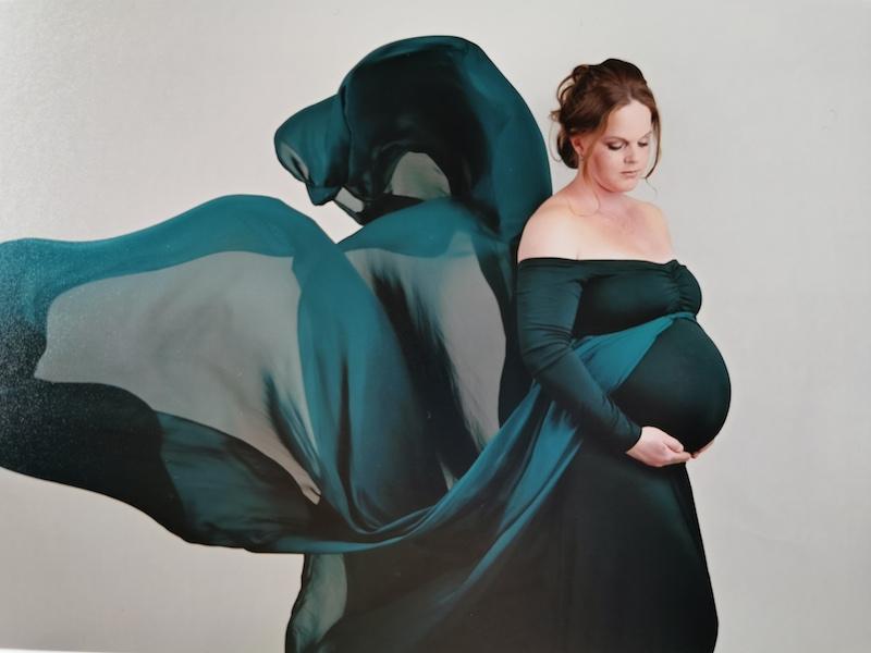 Nathalie tijdens haar zwangerschap