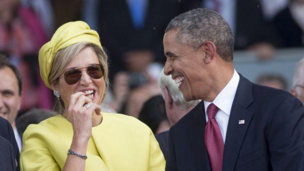 De Obama's en royals zijn goud: gieren met Máxima en kleine George in z'n badjas