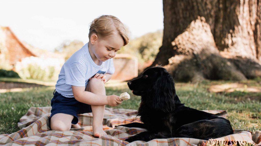 Prins William en gezin nemen afscheid van hond Lupo