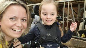 Stephanie en Anna Sophie - dochter met syndroom van Down