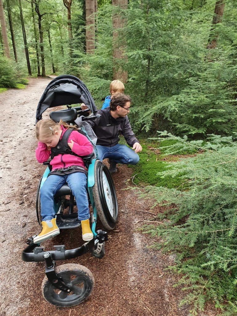 Anna Sophie in rolstoel
