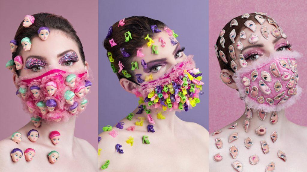 Van Barbies tot dino's: ontwerpster Cochevelou creëert excentrieke mondkapjes