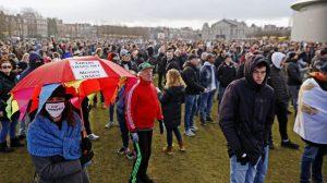 demonstratie museumplein kabinet Rutte ANP