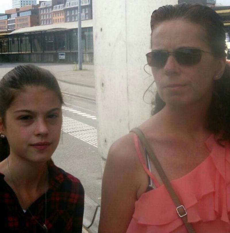 Rowie en haar moeder Liesbeth