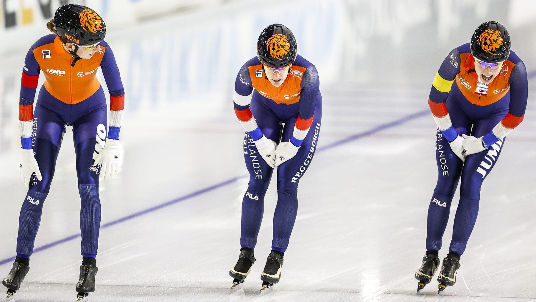 schaatstrio van Oranje