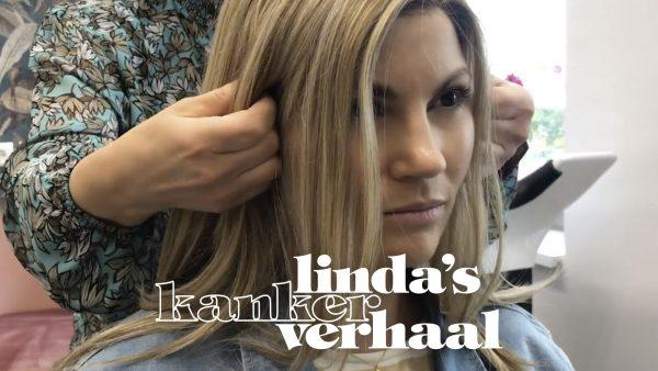 In vlog 8 neemt Linda je mee pruiken passen: 'Misschien ga ik wel voor blond'