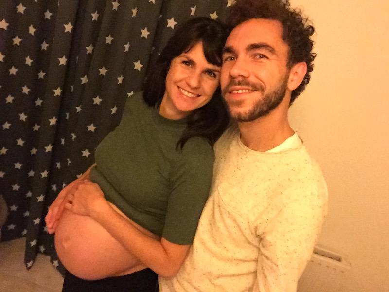 Jose en Giel tijdens de zwangerschap